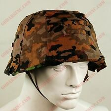 WW2 German Elite Oakleaf B Camo Reversible Helmet Cover