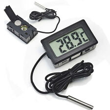 Mini Digital LCD Indoor/Outdoor Temperature Meter Thermometer +Battery+Cable FH