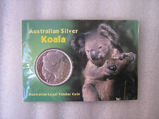 2007 KOALA  CARDED  1OZ SILVER  COIN