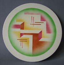 rare Tortenplatte geometrisches Spritzdekor Grünstadt Paetsch Bauhaus Art Deco