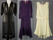 Vtg 20s 30s Lot of 3 Women's Dresses AS-IS Lace Chiffon Cotton 1920s 1930s #1231