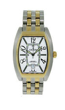 Croton CR307157TTWA Men's Tonneau Analog Date Stainless Steel Gold Tone Watch