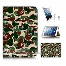 iPad Mini Flip Wallet Case Cover! P0260 Army Camouflage