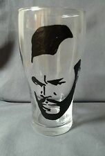 Hand Painted Mr. T A-Team Pilsner Beer Glass for Bar Man Cave Gift