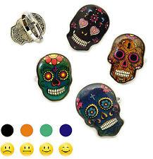 Bague d'humeur crâne mexicain - Change de couleur - Tête de mort Skull mood ring