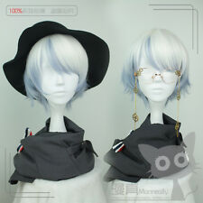 Wig Cospaly Short Japanese Lolita Harajuku Gothic Curly Daily White Mixed Blue