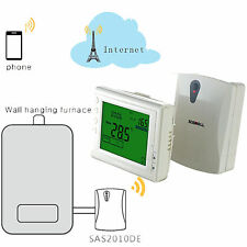 Wifi LCD Programmable Thermostat For Electric/Water/Boiler Heating  App Control