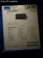 Sony Service Manual XAV 7W Media Center Receiver (#5368)