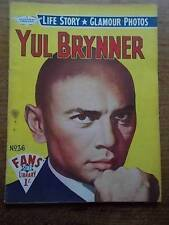 Vtg No 36 Magazine 1958 Fans Star Library Exciting Glamour Photos YUL BRYNNER