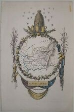 1830s BASSES ALPES LOW ALPS SWITZERLAND MINIATURE MAP BY FRENCH ARTIST PERROT