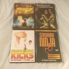 4 DVD Lot: Mirror or Mask, Screaming Ninja, Naked Weapon, Shaolin Deadly Kicks
