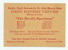 Dr John Martin Dean Sunday Night Sermon First Baptist Church Pasadena Card