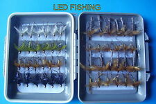 ASSORTED FISHING FLIES DADDIES FLYBOX SELECTION X 48