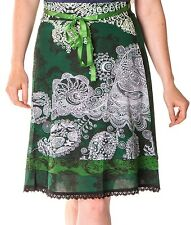 Beautiful Desigual Deliney Knee Length 60cm Green Skirt Size M