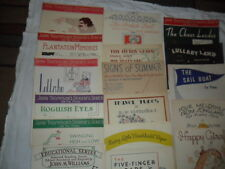 Sheet Music Lot John Thompson's Student Piano and others