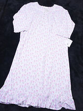 EILEEN WEST Womens Long Night Gown Dreamtime Jersey Size Large L Floral NWT NEW