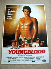 YOUNGBLOOD Original ICE HOCKEY Movie Poster ROB LOWE Barechested PATRICK SWAYZE