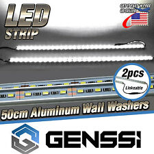 14W LED Wall Washer Stage Linear Flood Light - Cool White (Pack of 2) + Adapter