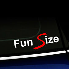 Fun Size MINI Cooper S Decal Sticker - Two Color Red and White Decal