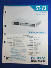SONY ST-V3 TUNER SERVICE  MANUAL FACTORY ORIGINAL FACTORY ISSUE GOOD CONDITION