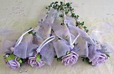 4x Sisaltüte  flieder Hochzeit Taufe Kommunion Tischdeko Aufleger Tischgesteck