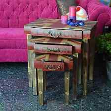 CONSOLE DRAWER DRESSING TABLE CHEST OF DRAWER WOODEN HALL STARS AND STRIPES