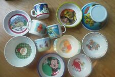 Set of 12 Melmac Bowl Cup Mug NEW Shrek 3rd BEAR Santa Dinosaur Mickey Mouse NEW