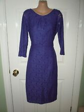 LADIES PURPLE LACE DRESS - SIZE 10 - BNWT - DOROTHY PERKINS - BACK ZIP DETAIL