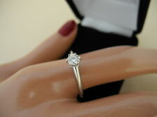 Auth TIFFANY&CO. Pt950 Platinum Engagement Ring 0.24ct Diamond Size US 5.5