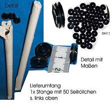 50 Seilröllchen Kunststoff  für Schrauben M3 Getriebe Feintrieb Modellbau OVP