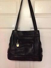 Carriage House handbag leather shoulder strap black H10