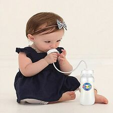 Podee Hands Free Baby Bottle System 9oz Bottles Baby took Immediately made USA