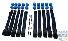 Solar Cover Heat Retention Strap Set Swimming Pool Roller Attachment Kit 10 x 1m