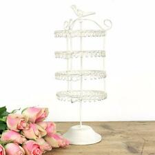 Vintage Jewellery Hanger Holder Stand Revolving Metal Earrings Display Rotating