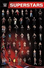 2014 WWE WRESTLING GRID POSTER 50+ WRESTLERS NEW 22x34 FREE SHIPPING