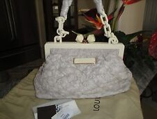 AUTH  LOUIS VUITTON CIRRUS OLYMPE LAMBSKIN BEIGE DISCONTINUED EXCELLENT