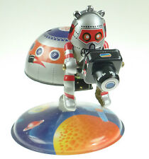 SPACE STATION TIN TOY WITH ASTRONAUT AND CAMERA RARE OUT OF PRODUCTION CLOCKWORK