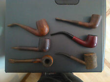 Lot of Six Estate Pipes Bruyere Aristocrat Cherry Wood ENA Brezo Restoration