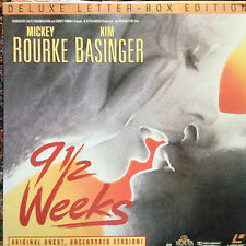 9 1/2 Weeks  uncut version Letterboxed Laserdisc Buy 6 free shipping