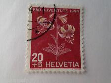 SUISSE SCHWEIZ, 1944, timbre 401, FLEURS, MARTAGON, FLORE, FLOWERS, oblitéré
