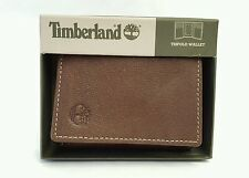 Timberland Men's Genuine Leather Blix Slim Trifold Wallet Brown #:D10241-01