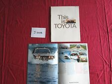 J.4022 / catalogue this is  TOYOTA  esto es ...ceci est Toyota  1975-76