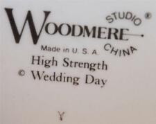 WOODMERE STUDIOS WEDDING DAY BREAD BUTTER PLATE WHITE GOLD TRIM HIGH STRENGTH