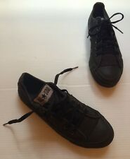 VTG 90s Made In USA 5 Destroyed BLACK Converse Low Top Sneakers Women's 7