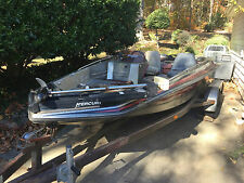 1995 19' GLASSRIDER BASS BOAT ON TANDEM TRAILER TROLLING MOTOR NO ENGINE