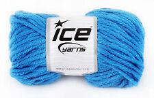 Voluminosos de hilo de tejer. Mid Blue. 50% lana, 50% Acrílico. Hilo No. 17633. Nuevo.