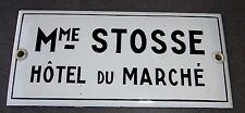 Ancienne plaque émaillée HOTEL bistrot bar absinthe no menier kub maggi
