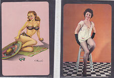 Pin Up Girl Vintage Swap/Playing 2 Single Card