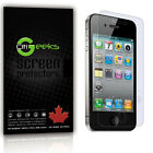CitiGeeks® iPhone 4 4S Screen Protector Crystal Clear HD Film 4G Cover [4-Pack]