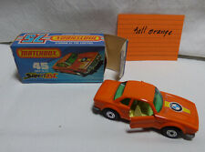 Matchbox Superfast 45 BMW 30 CSL -grüne Fenster hell orange -Made in England OVP